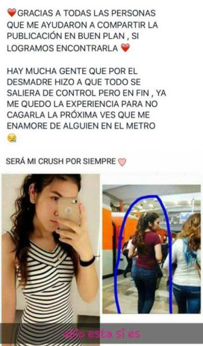 elfie mujer de cabello largo con vestido de rayas y comentarios de facebook