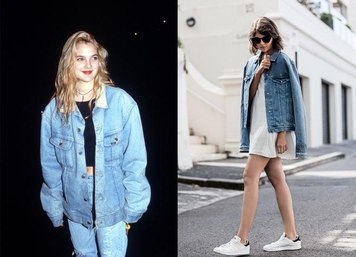 antes y después de la moda de los 90's chamarras de denim