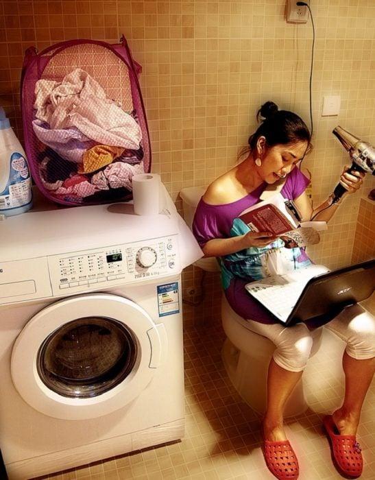 chica multitask