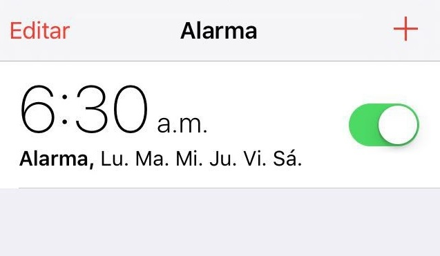 alarma de celular
