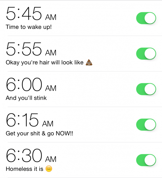 alarmas multiples celular