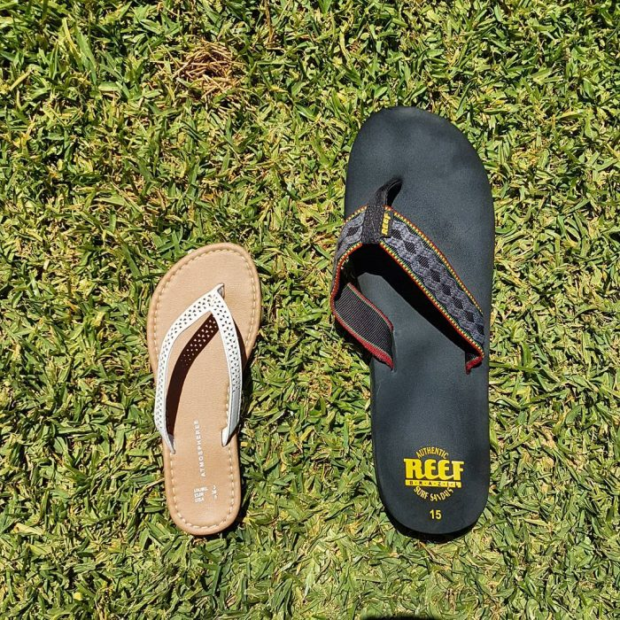 sandalias diferente tamaño