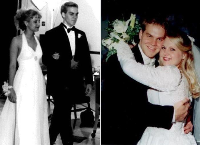 pareja en su graduación y boda
