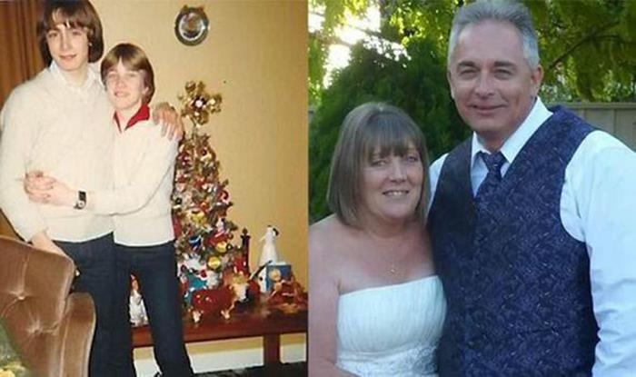 pareja antes y después de 35 años