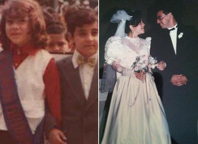 pareja de niños y casados