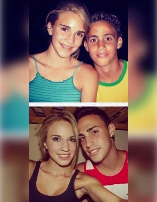 pareja adolescentes y ahora