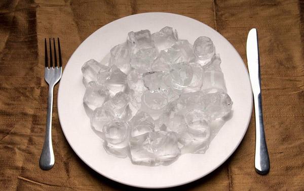 plato con hielos