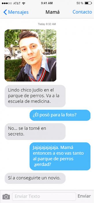 Conversacion de chat foto de hombre platica