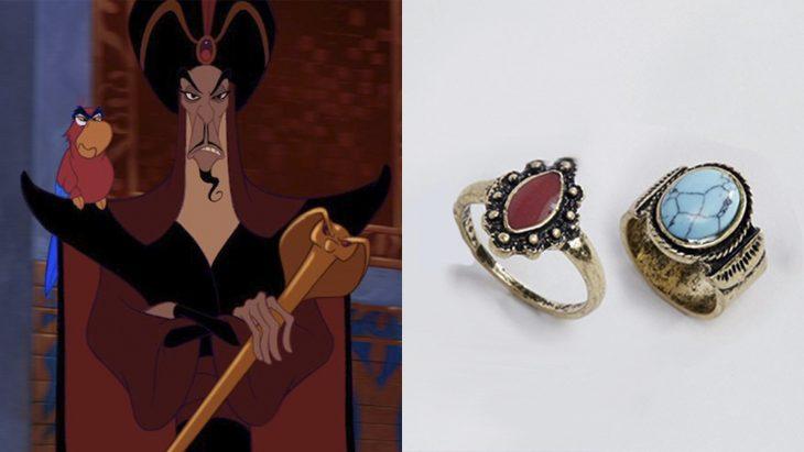 Anillo basado en el villano Jafar de la película Aladdin