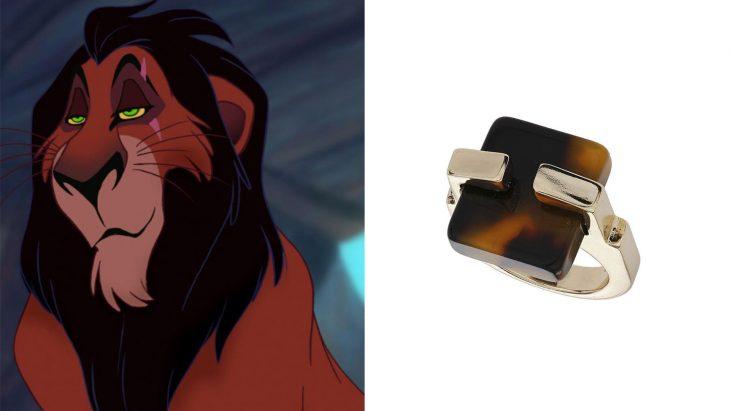 Anillo basado en el villana Scar de la película el rey león