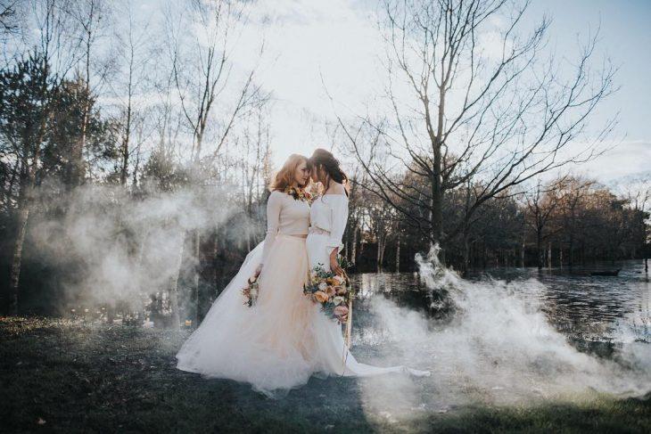 Sesión de boda de dos chicas