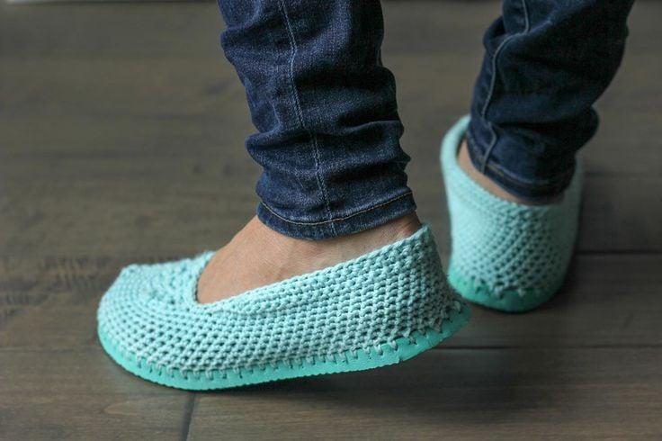 Zapatillas Para O Estambre Unas De Corchet Hacer Tutorial tQrdhoCsxB