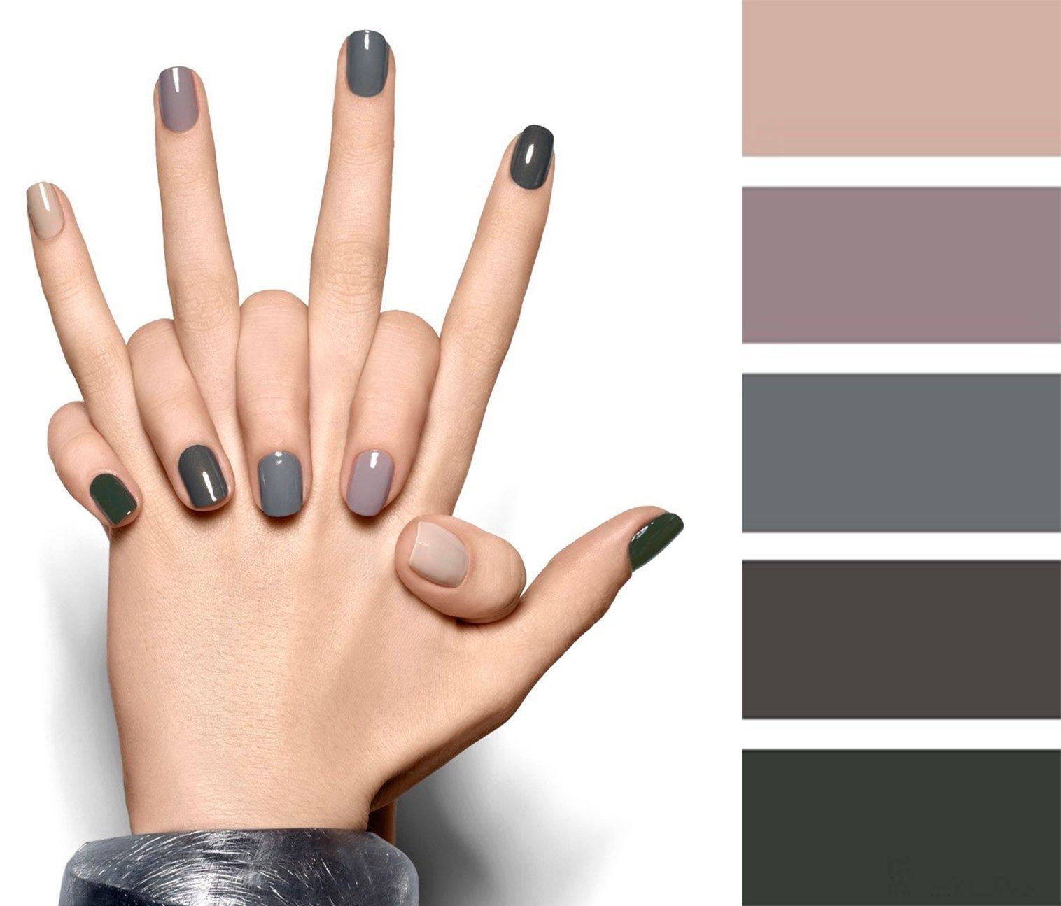 15 combinaciones de colores para una manicura perfecta - Combinaciones con gris ...