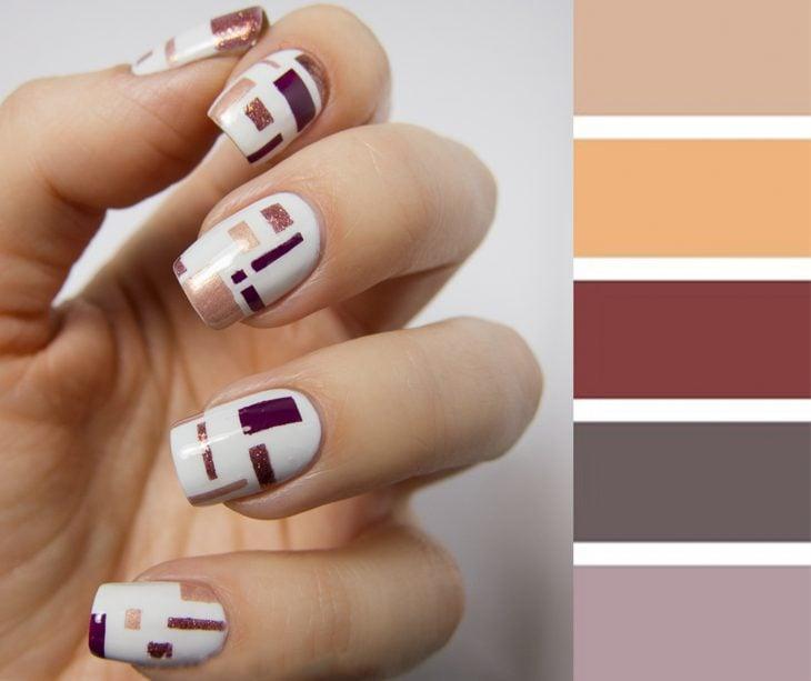 Combinaciones de uñas en colores de otoño