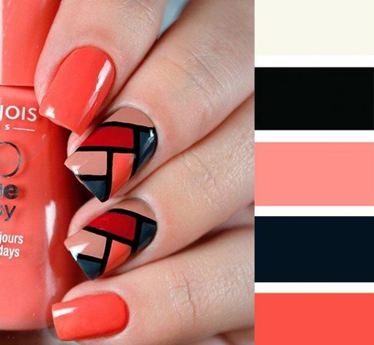 Combinaciones de uñas en colores rojos y blancos
