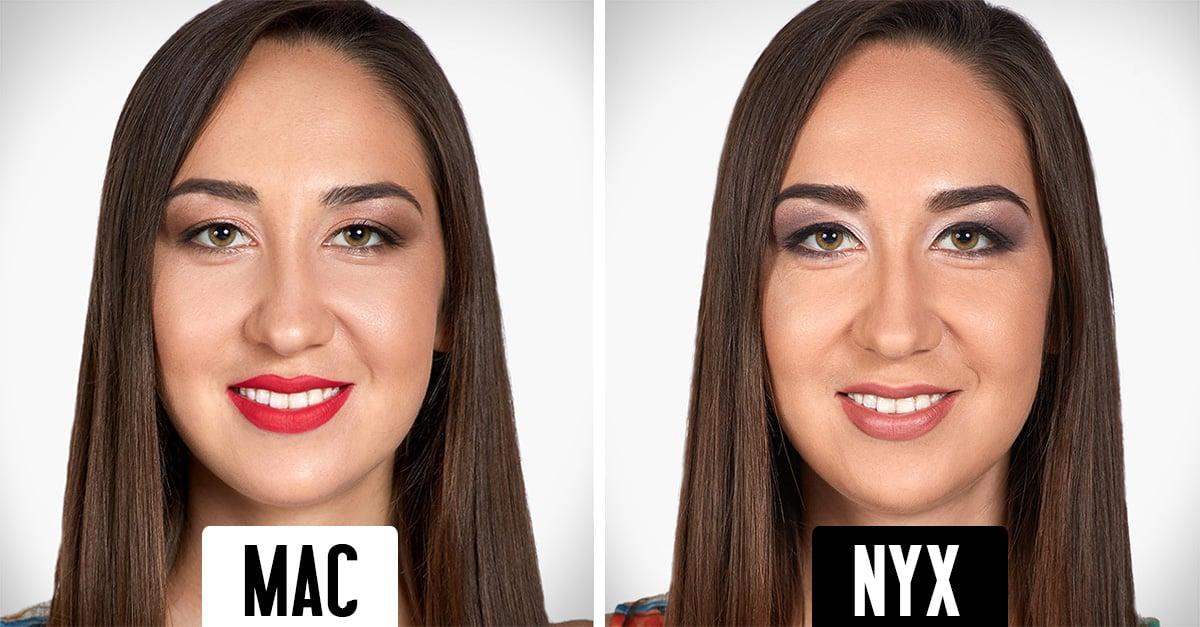 Cómo luce la misma chica con maquillajes de 5 marcas distintas