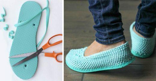 Corta tus viejas sandalias y conviértelas en las mejores zapatillas para el verano