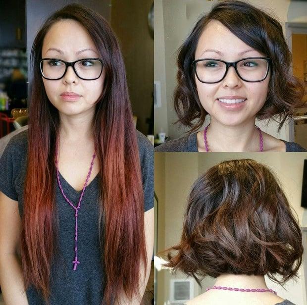 Cambio de look cabello corto mujer