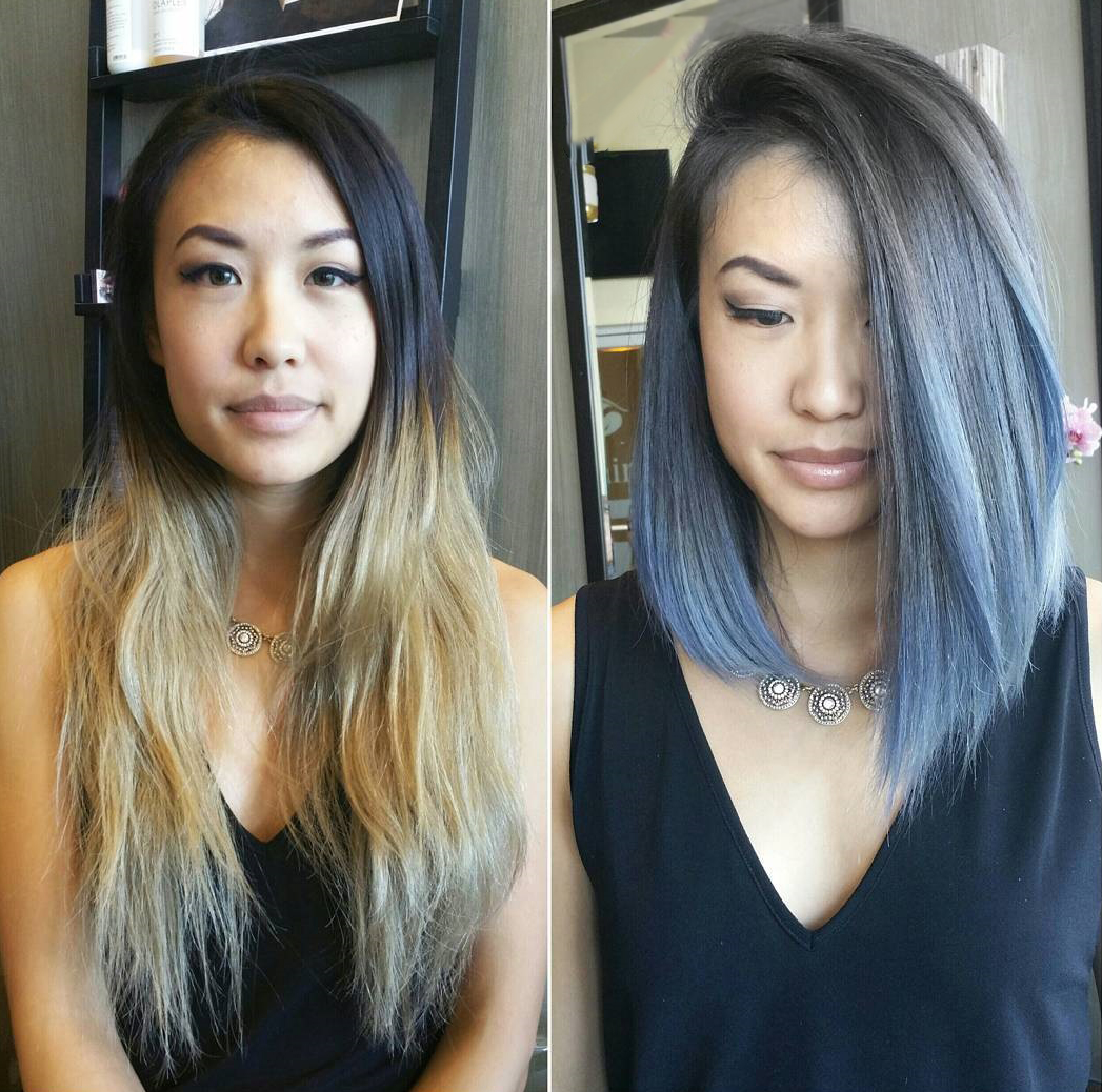 Truco de cabello largo a corto