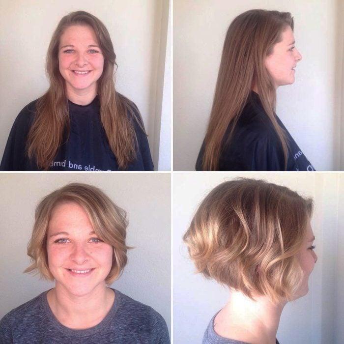 Transformaciones de cabello de largo a corto