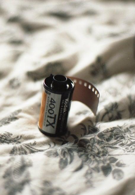 Rollo para cámara fotográfica vintage