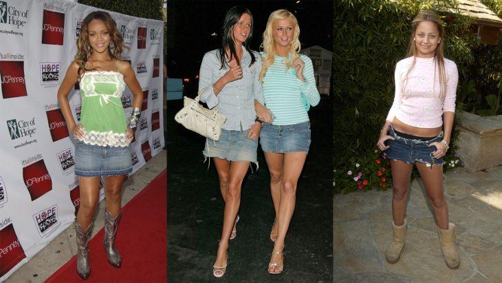 Chicas famosas usando minifaldas