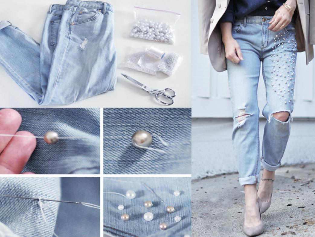 15 creativas ideas con las que podr s renovar tus jeans - Como hacer blanco roto ...