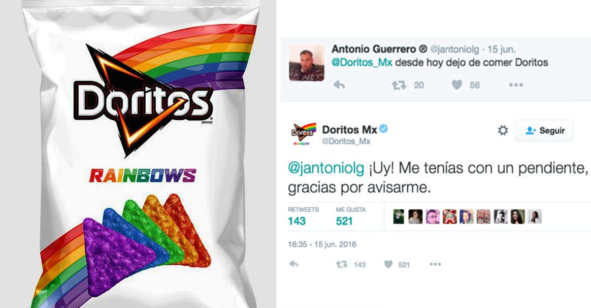 Doritos se convirtió en el rey del trolleo y así es como calló los comentarios homofóbicos en redes sociales