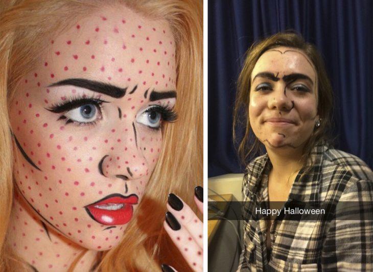 Fails de pinterest con maquillaje de halloween
