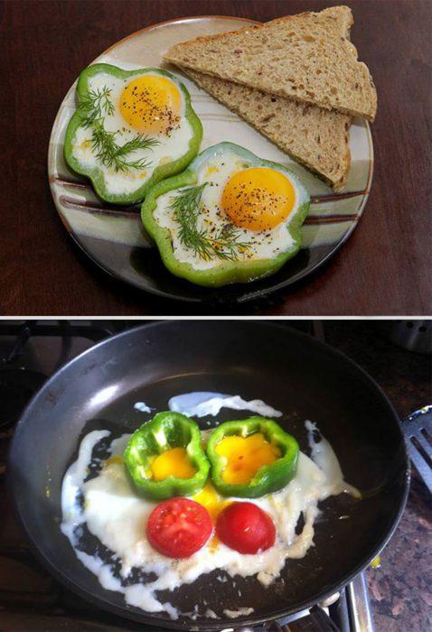 Fails de pinterest huevos hechos con pimientos