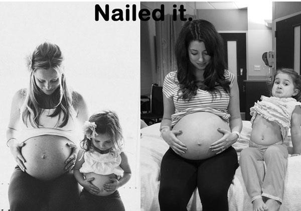 Fails de pinterest mujer embarazada con su hija