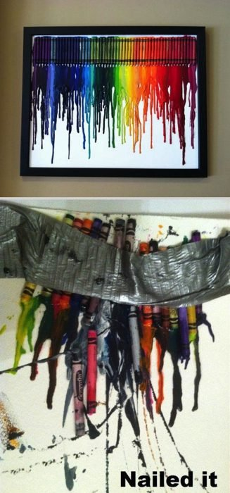 Fails de pinterest cuadro hecho con crayolas