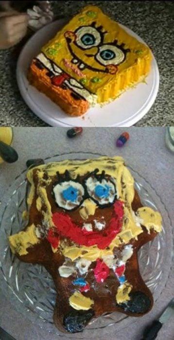 Fails de pinterest con pastel de bob esponja