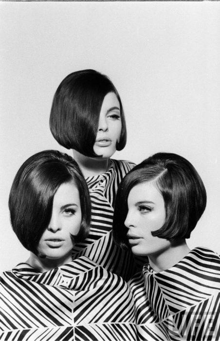 Fotografía de Nina Leen donde aparecen tres mujeres de los años 50 0 60 con cortes bob