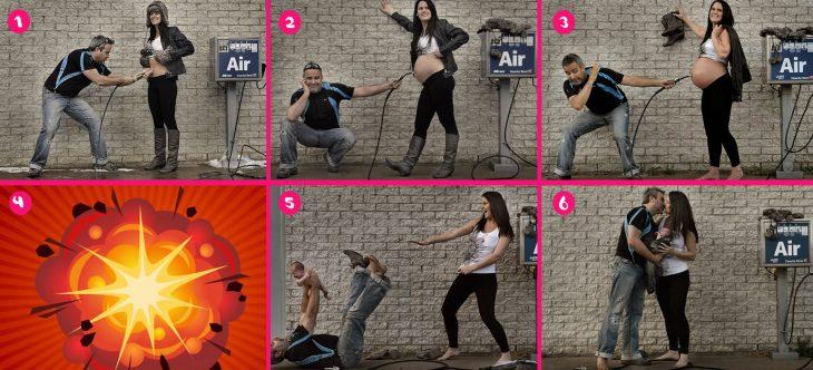 Fotos de embarazo estilo historieta