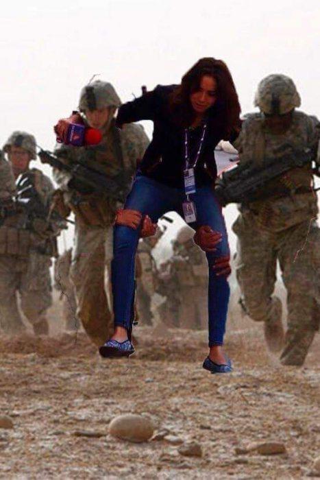 #LadyReportera en zona de guerra