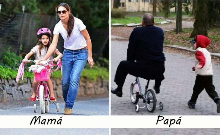 Niños estrenando bicicleta