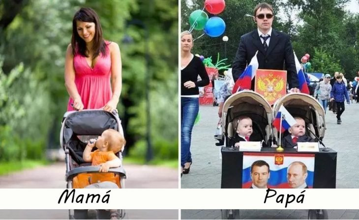 Padres de paseo