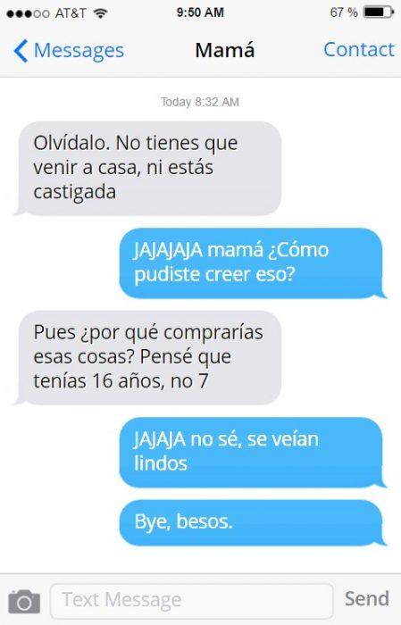 Mensajes madre e hija pastillas de colores