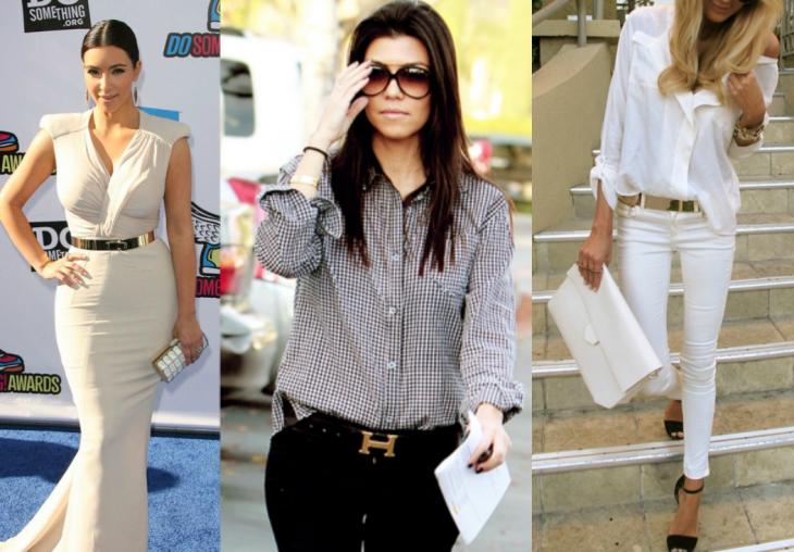 mujeres vestidos y pantalones con cintos
