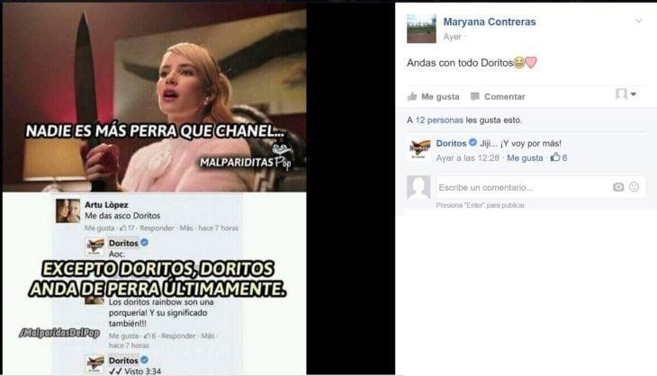 Doritos contesta en redes sociales