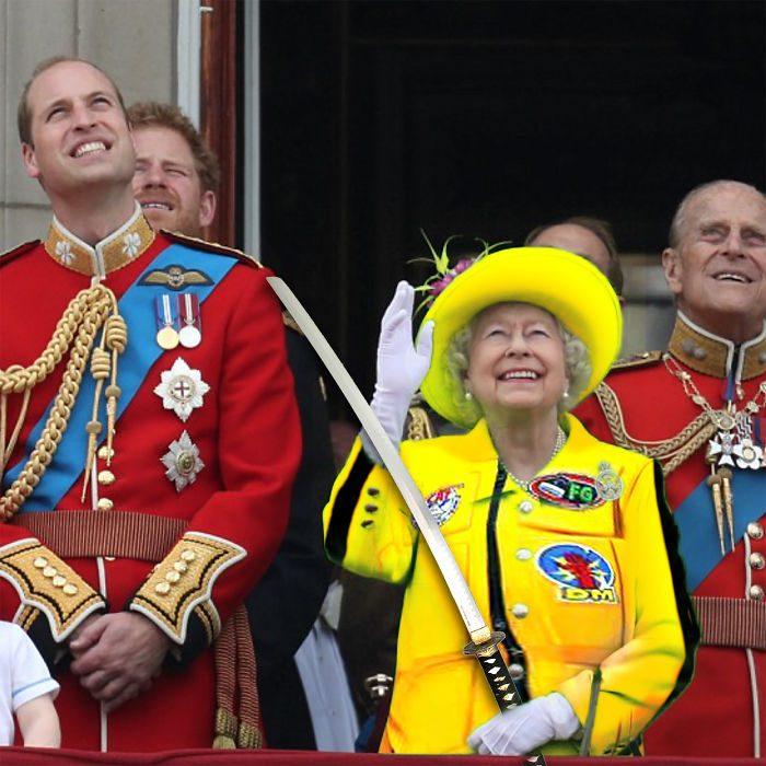 Reina Isabel vestida como kill bill
