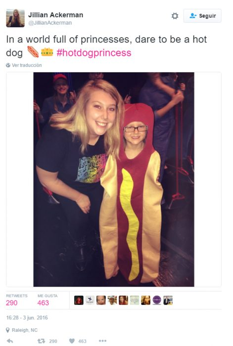 Twitter sobre la princesa hot dog