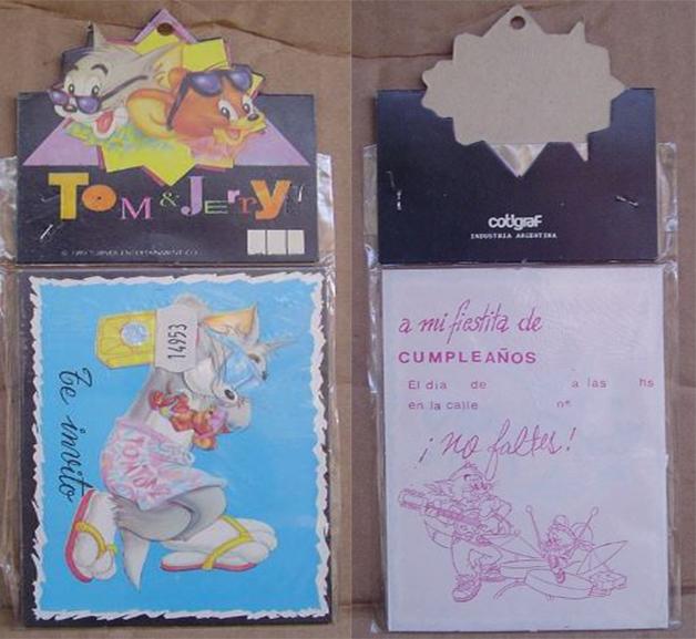 tarjetas de invitaciones con personajes animados
