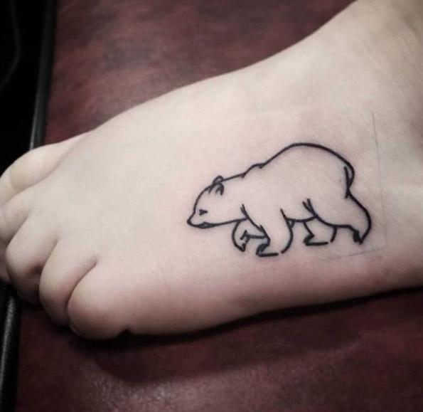 Tatuajes en el pie oso