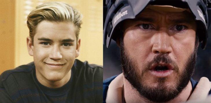 Antes y después del personaje Zac morris de salvados por la campana