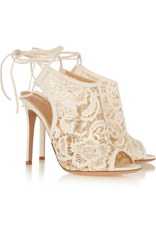 Lavender Lace Wedding Shoes