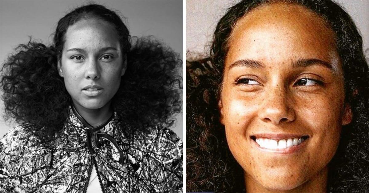 Alicia Keys se muestra sin maquillaje