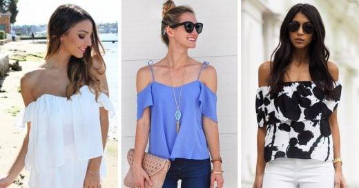 Estas 16 blusas con hombros descubiertos se robarán todas las miradas, ¿te animas?