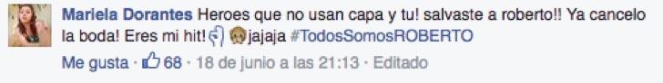 comentarios de facebook todos somos roberto